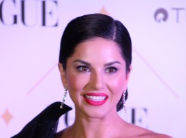 Sunny Leone flaunts at Vogue Beauty Awards 2017.