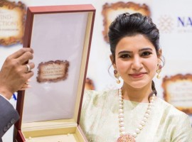 South Indian actress Samantha Ruth Prabhu inaugurates NAC Jewellers Antique Exhibition.