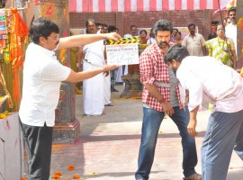 Actor Nandamuri Balakrishna's yet untitled Telugu film, to be directed by K.S. Ravi Kumar, started rolling here from Thursday. This will be Balakrishna's 102nd film.