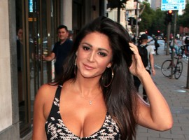 Model Casey Batchelor shows her ample assets.