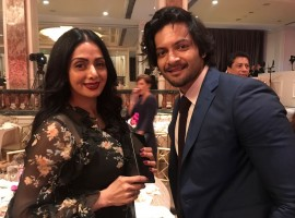 The suave Ali Fazal is making his mark the grand way in Hollywood with his next Victoria and Abdul and the handsome hunk is also seen attending gala dinners and socialising with some of the biggest names in Hollywood and with our very own talented beauty Sridevi at annual Hollywood Foreign Press Association dinner last night. It was a fan boy moment for Ali meeting Sridevi all the way in LA. Ali Fazal is in LA promoting his next Victoria and Abdul and was seen interacting with actress Sridevi and other Hollywood bigwigs. Actor Ali Fazal and Sridevi were the only actors from Bollywood who were part of this grand event. They both were seen walking the red carpet, interacting on films. Ali was seen brushing shoulder with some of the best names in Hollywood including Sir Patrick Stewart, Chelsea Handler, Elizabeth Moss, Chadwick Boseman, Dustin Hoffman, Anthony Mackie, Elizabeth Chambers and Armie Hammer, Chrissy Metz, Dylan Minnette amongst many others.
