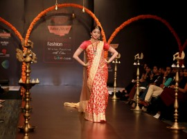 Actress Pranita Subhash walking for Rajya Lakshmi.