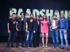Filmmaker Milan Luthria and actors Vidyut Jammwal, Ajay Devgan, Ileana D'Cruz, Emraan Hashmi and Esha Gupta during the trailer launch of their upcoming film