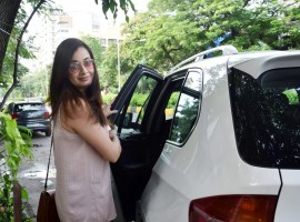 Bollywood actress Dia Mirza spotted at Bandra.