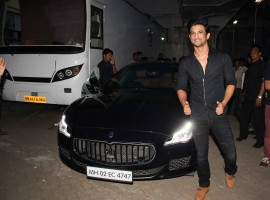 Sushant Singh Rajput spotted at Mehboob studio in Mumbai.