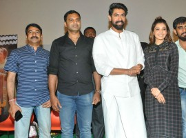 Actor Rana Daggubati and actress Kajal Aggarwal promote Nene Raju Nene Manthri at capital cinemas.