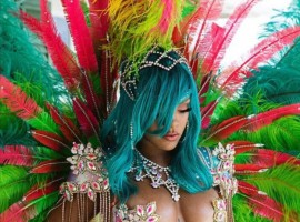 Singer Rihanna sizzling bejewelled bikini picture sparks backlash for using Photoshop.
