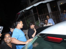 Actor Shah Rukh Khan spotted at recording studio Bandra.