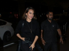 Bollywood film actress Sonakshi Sinha spotted at Mumbai Airport.