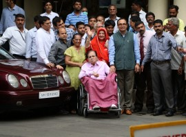 Dilip Kumar, 94, was admitted to the Lilavati Hospital on August 2. Saira, who has been married to the actor since over five decades and is 22 years younger to him, accompanied Dilip Kumar when he was wheeled out of the hospital here. She told the media: