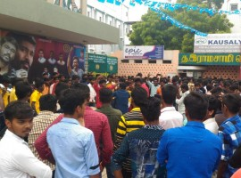 Actor Dhanush fans celebrate Velaiilla Pattadhari 2 (VIP 2) movie release.