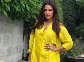 Neha Dhupia during the promotion of her talk show