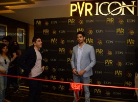 Actor Sidharth Malhotra inaugurates new PVR icon at the Pavilion Mall, Pune.