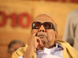 DMK President M. Karunanidhi on Wednesday was admitted to Kauvery Hospital here for a minor procedure, the hospital said.