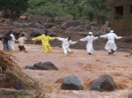 Over 200 people have died due to heavy rainfall and flooding in Sierra Leone, a media report said. A hillside in the Regent area collapsed early on Monday following heavy rains, leaving many houses covered in mud, BBC reported.