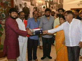 Chiranjeevi's 151st film Uyyalawada Narasimha Reddy launched at Konidela Pro office. The movie is based on the life of a popular freedom fighter from Kurnool, will be released on August 22 on the occasion of the actor's birthday.