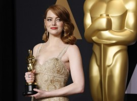 1: Emma Stone is the world's highest-paid actress. Stone, 28, who won best actress for her role as a struggling actress in