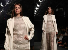 Kalki Koechlin looks like a vision in white as she closes the show for Nikitam Haisalkar at Lakme Fashion Week.