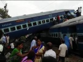 Four coaches of the Kalinga-Utkal Express went off the tracks in Khatauli in Muzaffarnagar district of Uttar Pradesh on Saturday evening, officials said.