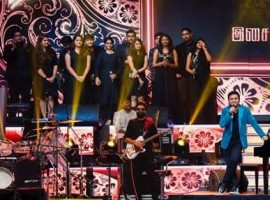Double Oscar-winning composer A.R. Rahman performs at audio launch of his upcoming Tamil film