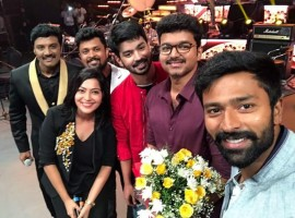 Vijay, Shanthanu at Mersal audio launch.