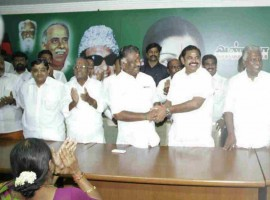 The two factions of the AIADMK on Monday merged, six months after they split following the death of then Chief Minister J. Jayalalithaa.
