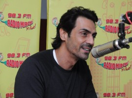 Actor Arjun Rampal at Radio Mirchi studio to promote his film Daddy.