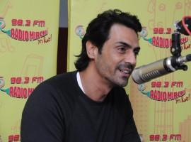 Actor Arjun Rampal at Radio Mirchi studio to promote his film Daddy.