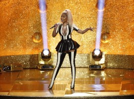 Nicki Minaj performs.