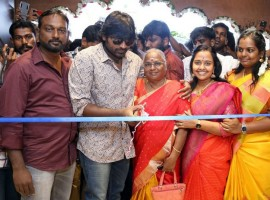 South Indian actor Vijay Sethupathi at Iraivi Boutique show room launch.
