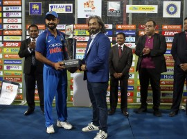 Virat Kohli led the way with a century as India defeated Sri Lanka by six wickets in the fifth and final One-Day International (ODI) at the R.Premadasa Stadium here on Sunday evening. Chasing a target of 239 runs, India crossed the line with 21 balls to spare. Kohli remained unbeaten on 110 runs off 116 balls, smashing nine boundaries along the way. He was involved in a 108-run partnership with Kedar Jadhav, who scored 63 runs off 73 balls before being caught behind off Wanidu Hasaranga's bowling a couple of balls before the end. This was the 30th century of Kohli's ODI career.