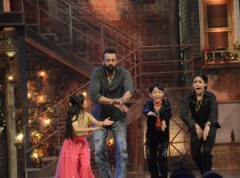 Sanjay Dutt during the promotion of their upcoming film