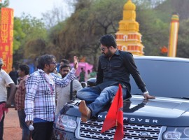 Check out working pictures of actor Jr NTR's from Jai Lava Kusa movie. The film features Jr. NTR in a triple role.