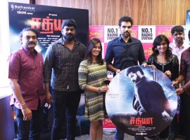 Sathya audio launch event held today at Suryan FM 93.5 in Chennai.