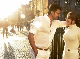 Check out the pictures of Actor Vijay and Kajal Aggarwal stills from Maacho song.