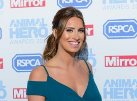 Television personality Ferne McCann flaunts her baby bump during Animal Hero Awards 2017.