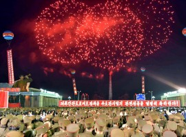 Pyongyang city civilians celebrate the successful completion of the hydrostatic test for the intercontinental ballistic rocket installation in this undated photo released by North Korea's Korean Central News Agency (KCNA) in Pyongyang Pyongyang city civilians celebrate the successful completion of the hydrostatic test for the intercontinental ballistic rocket installation in this undated photo released by North Korea's Korean Central News Agency (KCNA) in Pyongyang.