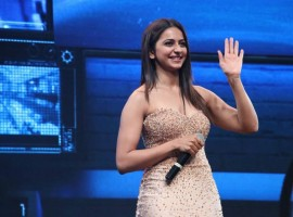 Rakul Preet Singh at Spyder audio launch event.