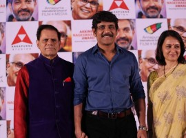 ANR Award 2017 Announcement press meet held at Hyderabad. Celebs like Nagarjuna Akkineni, Amala, T. Subbarami Reddy graced the event.