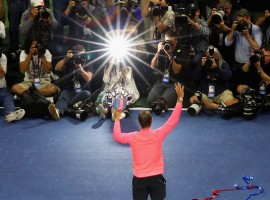 Spain's Rafael Nadal defeated Kevin Anderson from South Africa 6-3, 6-3, 6-4 to win his third US Open title on Sunday. The victory gave the world number one the 16th Grand Slam title. Only his longtime rival Roger Federer has more, with 19. Besides his triumph in New York, Nadal also won the French Open in June and has collected two major titles in the same year for the first time since 2013, when he won the last of his two US Open crowns.
