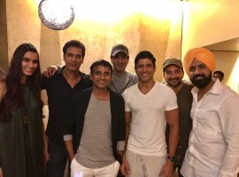 Just a week ahead of its release, Farhan Akhtar hosted a special screening of Lucknow Central last night. Farhan Akhtar, who is playing a pivotal role in the film had held a special screening for close friends and family.