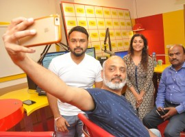 Telugu movie Oxygen song launched at Radio Mirchi 98.3 FM in Hyderabad.