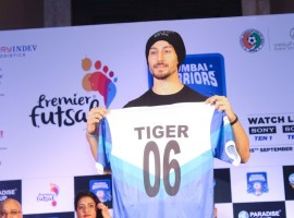 Bollywood actor Tiger Shroff launches Mumbai Warriors Season 2 Jersey.