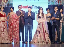 Kriti Sanon displays the creation of Mirabella Annual Wedding Collection during the