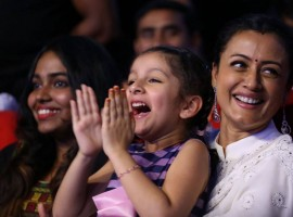 Prince Mahesh Babu's daughter Sitara at Spyder Pre Release event.