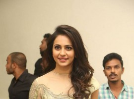 Actress Rakul Preet Singh spotted at Spyder Pre Release event.