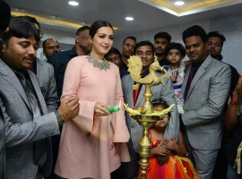 Actress Catherine Tresa launches Eledent Hosptal in Kondapur.