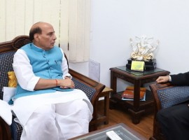 Tamil Nadu Governor C. Vidyasagar Rao met Union Home Minister Rajnath Singh on Tuesday amid an ongoing political crisis in the state. Rao called on Rajnath Singh at his residence here, a day after Speaker P. Dhanapal disqualified 18 MLAs owing allegiance to rebel AIADMK leader T.T.V. Dinakaran. Rao arrived in Delhi on Monday and met President Ram Nath Kovind and Finance Minister Arun Jaitley. The Governor, who has been urged by opposition parties and dissident AIADMK MLAs to immediately convene the assembly to enable a floor test, is yet to take a decision on when to ask Chief Minister K. Palaniswami to face a trial of strength. Rao is expected to fly on Tuesday afternoon to Chennai where he would meet the Chief Minister and discuss a strategy on convening the assembly.