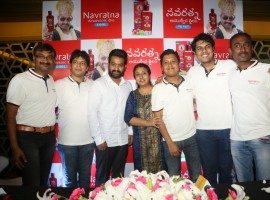 Jr NTR spotted at Navratna Ayurvedic Oil Press Meet.