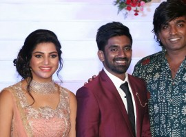 Vijay Sethupathi at Dharan Kumar and Deekshitha Wedding Reception.